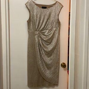 Satin gold dress